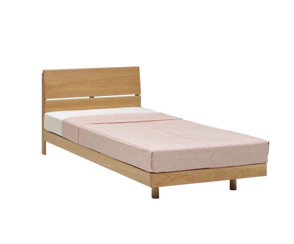 オーク材ベッドフレーム