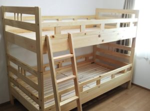 国産ヒノキ材2段ベッド