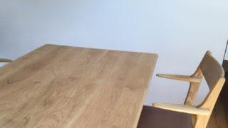 ホワイトオークダイニングテーブル/チェア