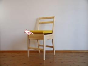 ヒノキ学習椅子