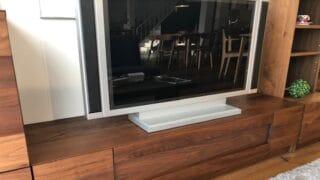 ウォールナット材のTVボード